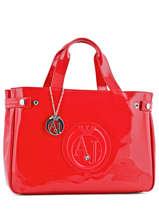 Handtas Vernice Lucida Gelakt Armani jeans Rood vernice lucida 5291-55